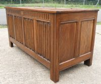 Large Four Panelled Oak Blanket Chest